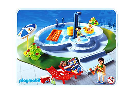 Famille piscine 3205 b playmobil france for Piscine maison moderne playmobil