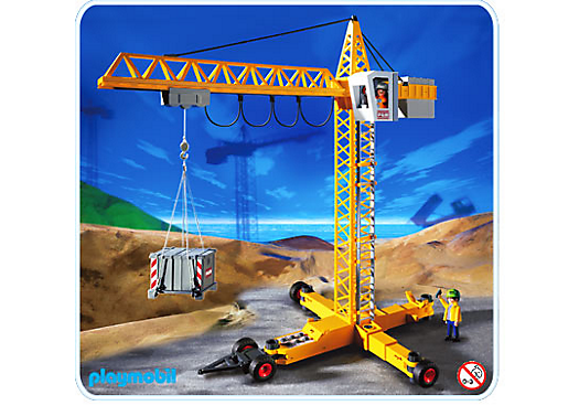 grue de chantier 3262 c playmobil france. Black Bedroom Furniture Sets. Home Design Ideas