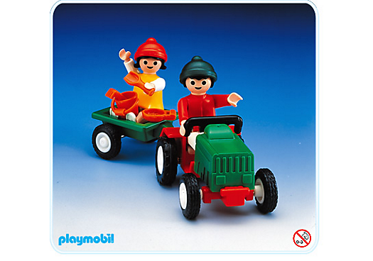 2 enfants tracteur remorque 3594 a playmobil france - Tracteur remorque enfant ...