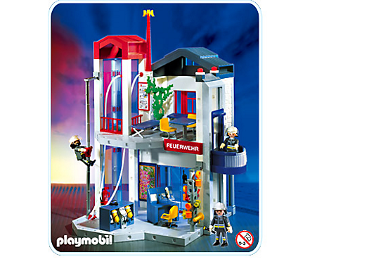 caserne de pompiers avec tour d exercice 3885 a playmobil france. Black Bedroom Furniture Sets. Home Design Ideas