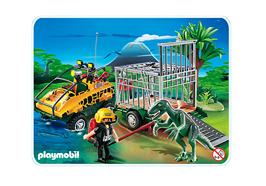 amphibienfahrzeug mit deinonychus 4175 a playmobil. Black Bedroom Furniture Sets. Home Design Ideas