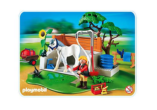 pferde waschplatz 4193 a playmobil deutschland. Black Bedroom Furniture Sets. Home Design Ideas
