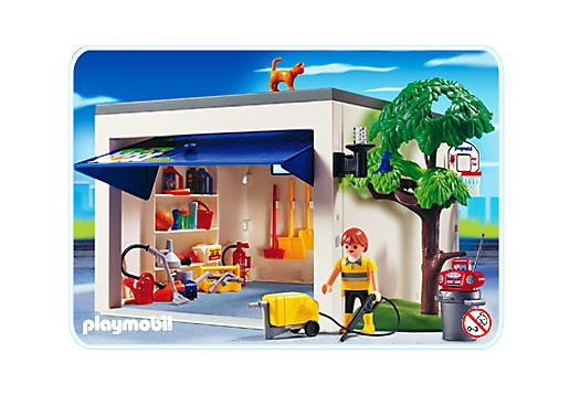 Garage de la maison 4318 a playmobil france for Modele maison playmobil