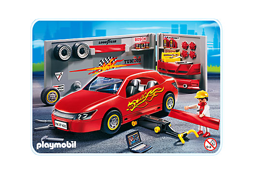 voiture de sport rouge avec accessoires 4321 a playmobil suisse. Black Bedroom Furniture Sets. Home Design Ideas