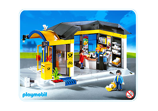 bureau de poste 4400 a playmobil france. Black Bedroom Furniture Sets. Home Design Ideas