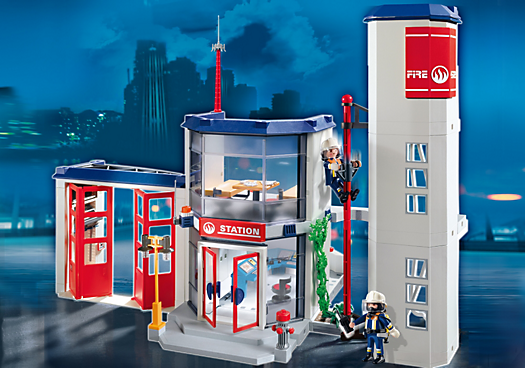 Playmobil jouets boutique officielle france playmobil - Playmobil pompier caserne ...