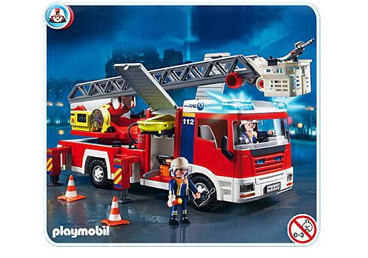 4820 camion de pompiers grande echelle de playmobil. Black Bedroom Furniture Sets. Home Design Ideas