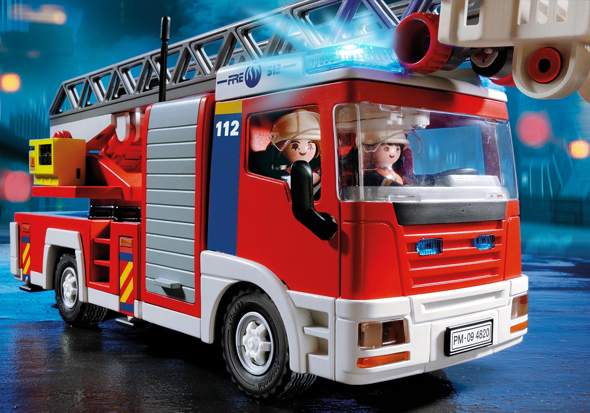 Playmobil 4820 camion de pompiers grande echelle achat - Image camion pompier ...