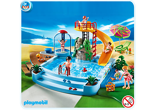 piscine avec toboggan 4858 a playmobil france