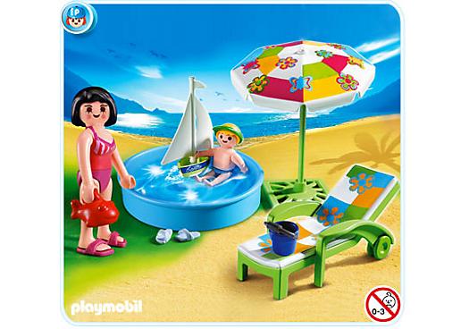 Pataugeoire piscine playmobil complet ref 4864 for Piscine playmobil