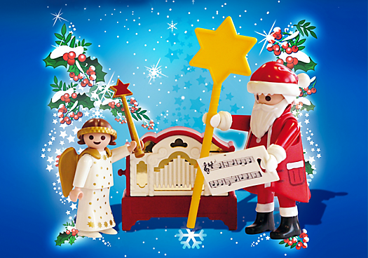 Little Angel and Santa Claus with Organ