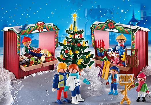 Marché Noël playmobil