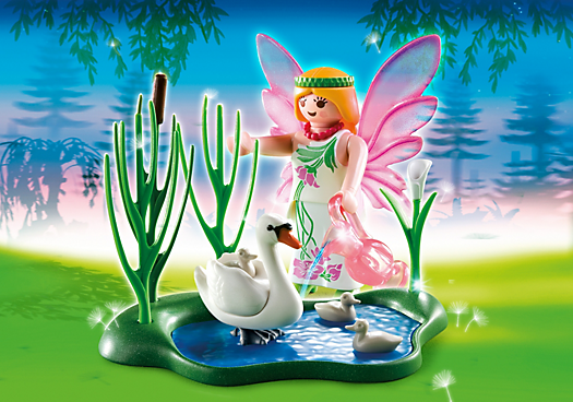 Fairy with Swan Pond
