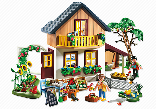 Farm House with Market