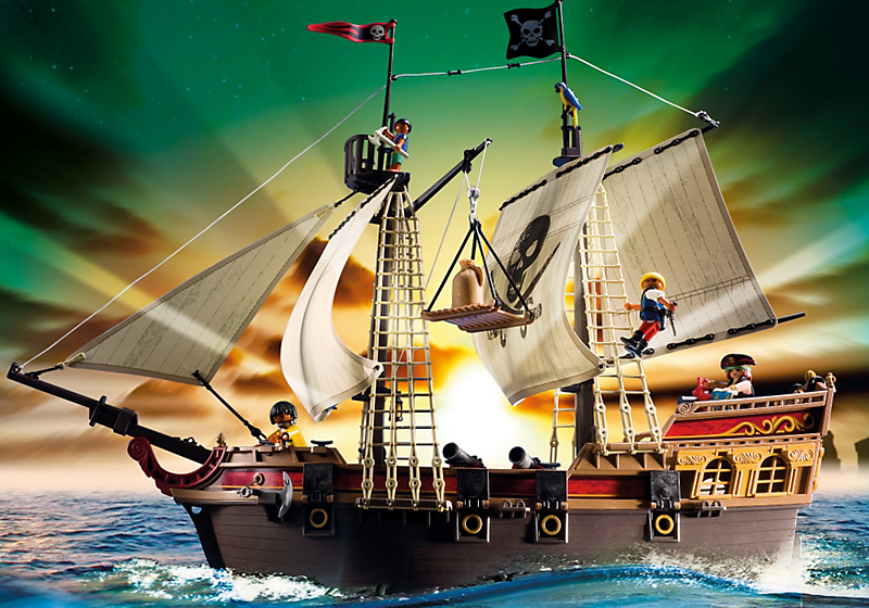 playmobil 5135 bateau d 39 attaque des pirates achat. Black Bedroom Furniture Sets. Home Design Ideas