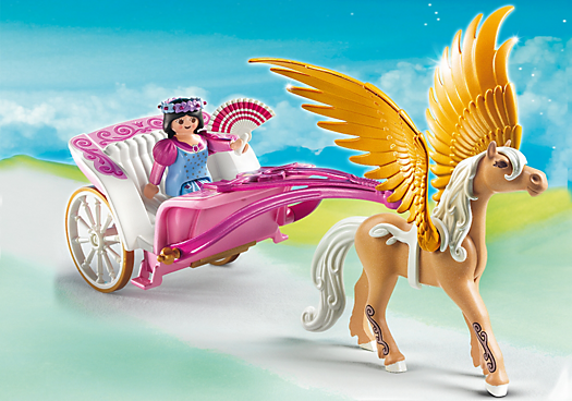 Princess with Pegasus Carriage