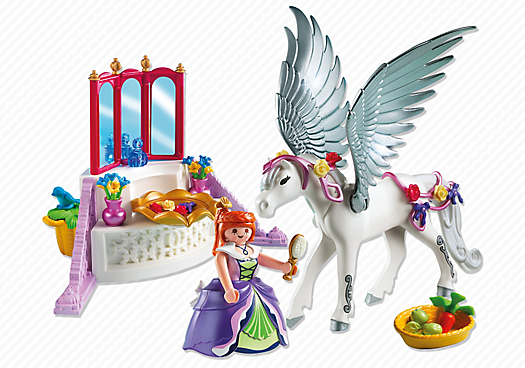 Pegasus with Princess and Vanity