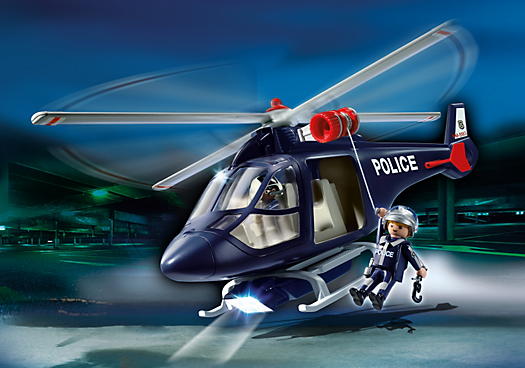 Police Helicopter with LED Spotlight