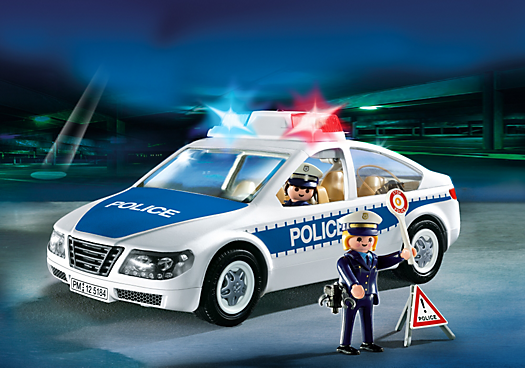Police Car with Flashing Light