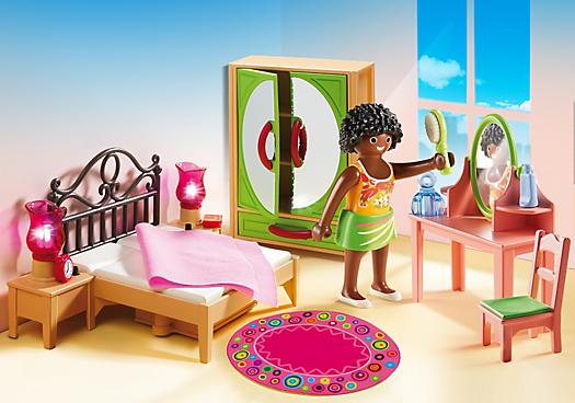 Schlafzimmer mit schminktischchen 5309 playmobil deutschland