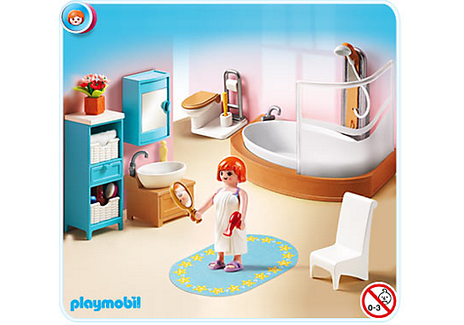 5330 salle de bains avec baignoire de playmobil. Black Bedroom Furniture Sets. Home Design Ideas