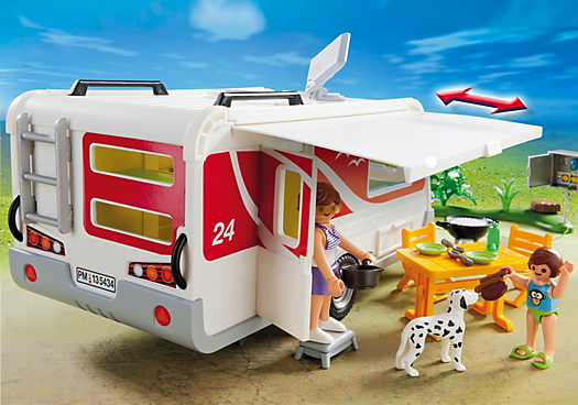 Destockage playmobil 5434 caravane univers miniature au for Hotel destockage