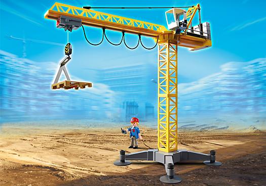 Grande grue de chantier radio command e 5466 playmobil france - Jeux de grue de chantier ...
