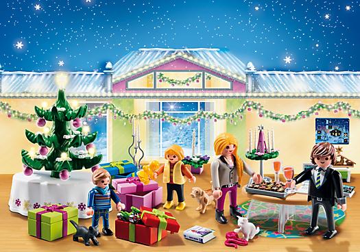 Advent Calendar Christmas Room with Illuminating Tree