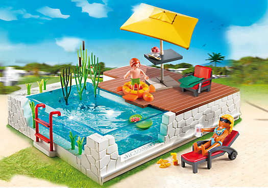 einbau swimmingpool 5575 playmobil deutschland. Black Bedroom Furniture Sets. Home Design Ideas