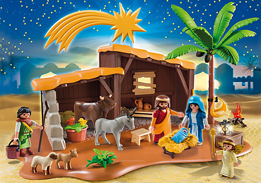 Nativity Stable with Manger