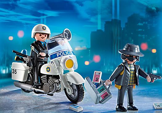 Valisette policier et voleur 5891 playmobil france - Playmobile policier ...