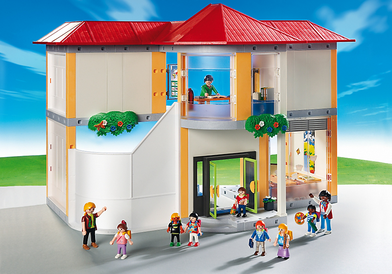 playmobil 5923 ecole avec 3 salles de classe achat. Black Bedroom Furniture Sets. Home Design Ideas