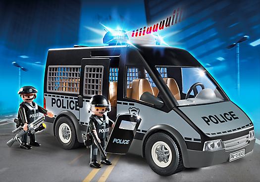 fourgon de police avec sir ne et gyrophare 6043 playmobil france. Black Bedroom Furniture Sets. Home Design Ideas