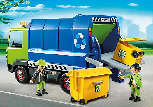 Playmobil City Action 6110 Camion de recyclage des ordures ColliShop