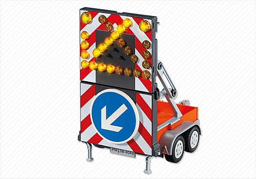 Roadwork LED Signal on Trailer