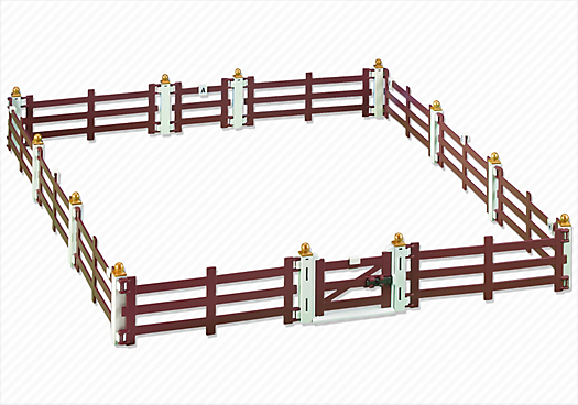 Fence Extension for Large Horse Farm with Paddock (5221)