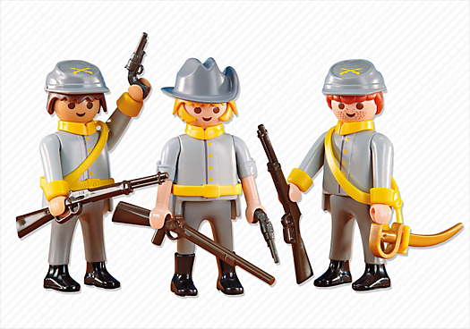 3 Confederate Soldiers