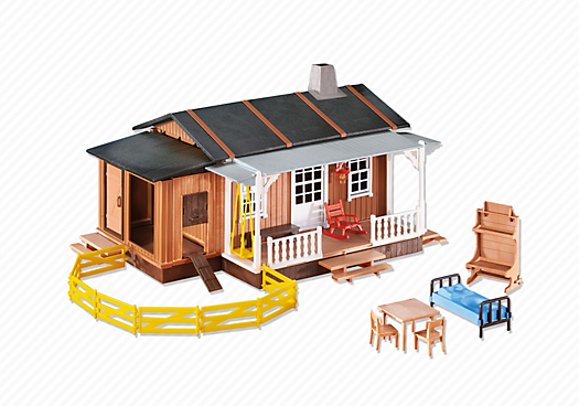 maison des fermiers du far west 6410 playmobil france. Black Bedroom Furniture Sets. Home Design Ideas