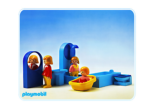 Salle de bain 1 2 3 6614 a playmobil france for Salle bain playmobil