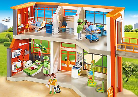 Kinderklinik mit einrichtung 6657 playmobil schweiz for Playmobil 6445