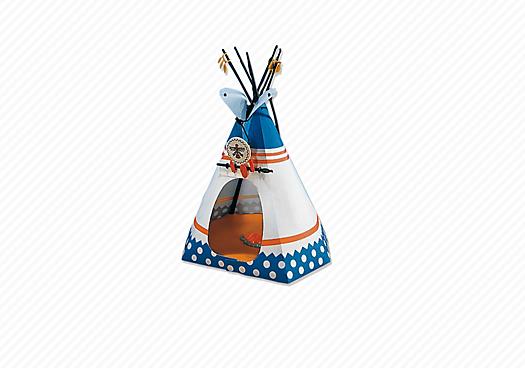 Indianerzelt mit Feuerstelle