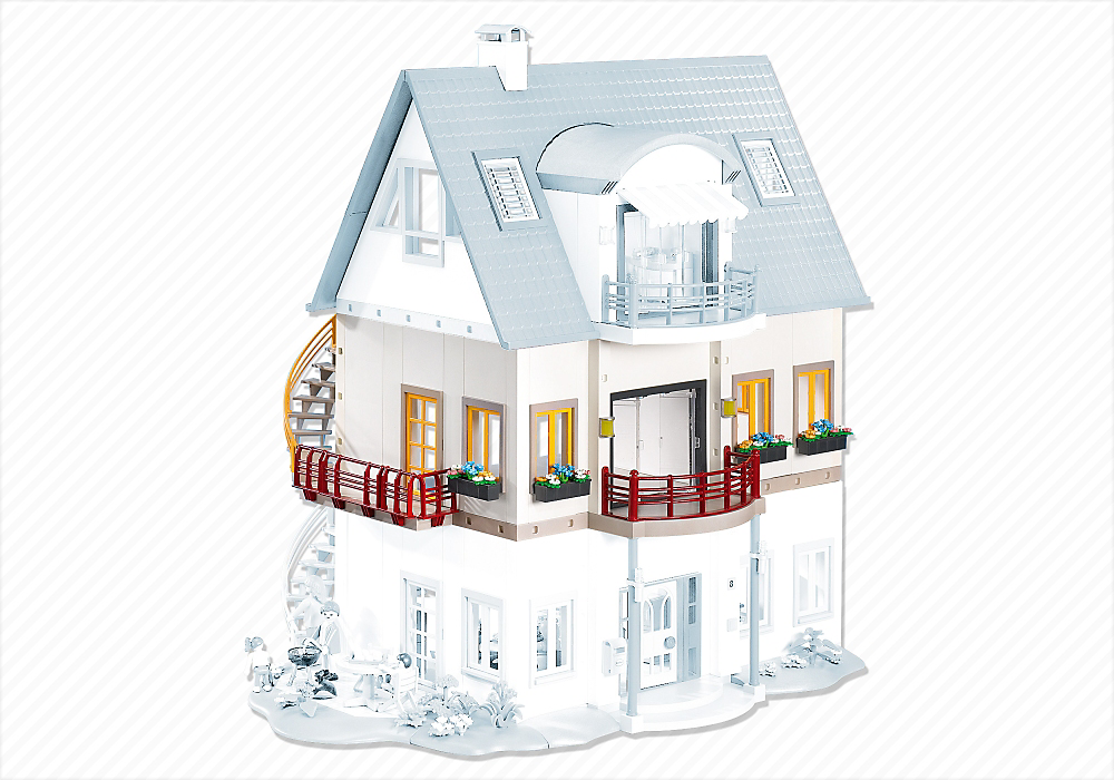 Salon Villa Moderne Play Mobil : Playmobil Suburban House