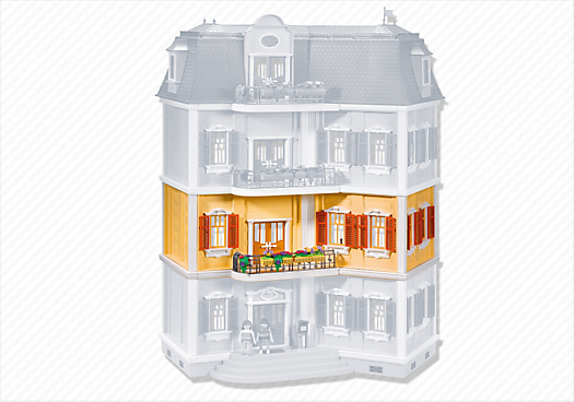 Floor extension for 5302 grande mansion 7483 playmobil for Playmobil modernes haus 9266