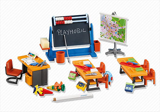 Classe d cole 7486 playmobil france for Salle a manger playmobil city life