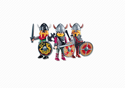 3 Viking warriors