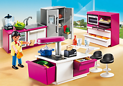 La maison moderne playmobil france for Cuisine playmobil 5582