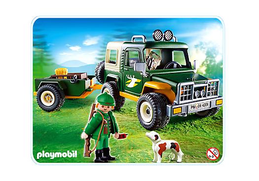 forstgeländewagen mit anhänger  4206a  playmobil